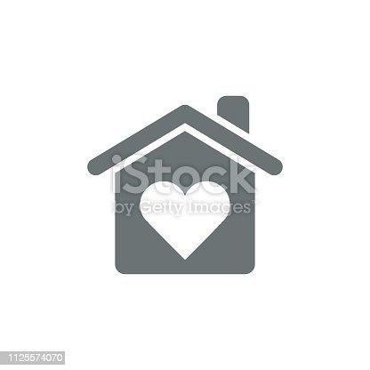 istock Love home icon 1125574070