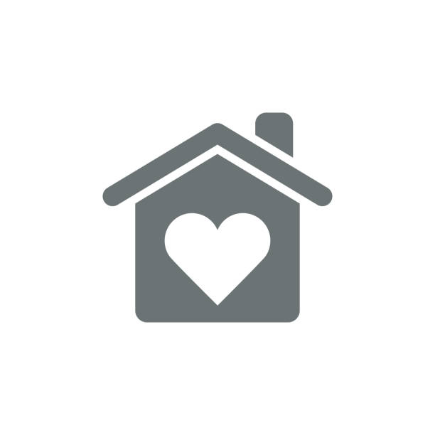 love home icon - home icon stock illustrations