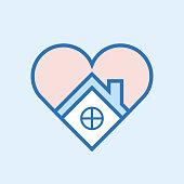 Love home icon, vector illustration. EPS 10.