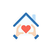 Love home icon,vector illustration. EPS 10.