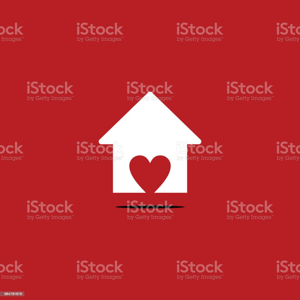 Love Home Logo Vector Template Design royalty-free love home logo vector template design stock vector art & more images of abstract
