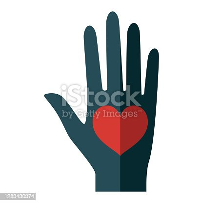 istock Love Icon on Transparent Background 1283430374