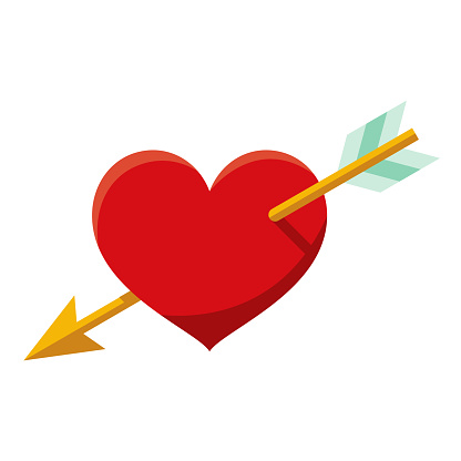 Love Icon on Transparent Background