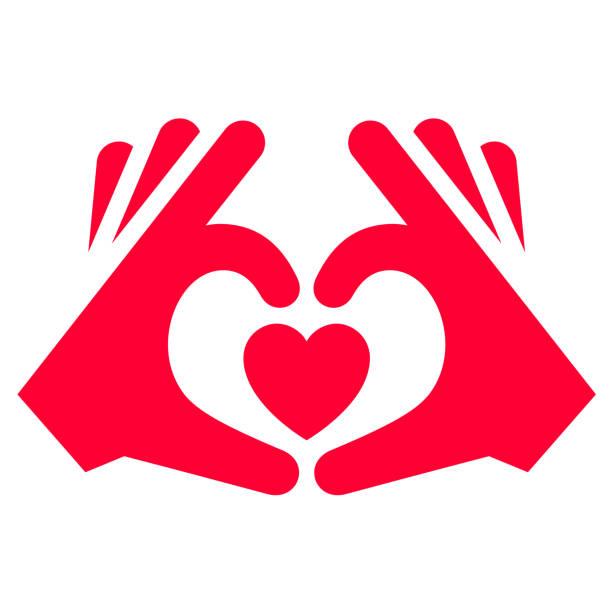 bildbanksillustrationer, clip art samt tecknat material och ikoner med kärleks ikon eller alla hjärtans dag-skylt designad för firande - människoarm