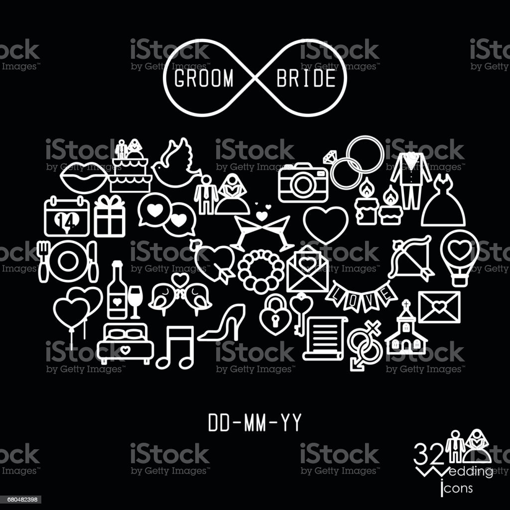 Love Icons Objects In Infinity Shape Infinity Love Forever Symbol
