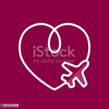 istock Love in flight concept 1034323268