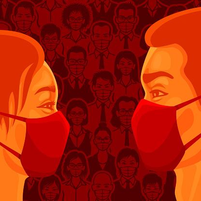 Love in Pandemic Times. Coronavirus prevention.