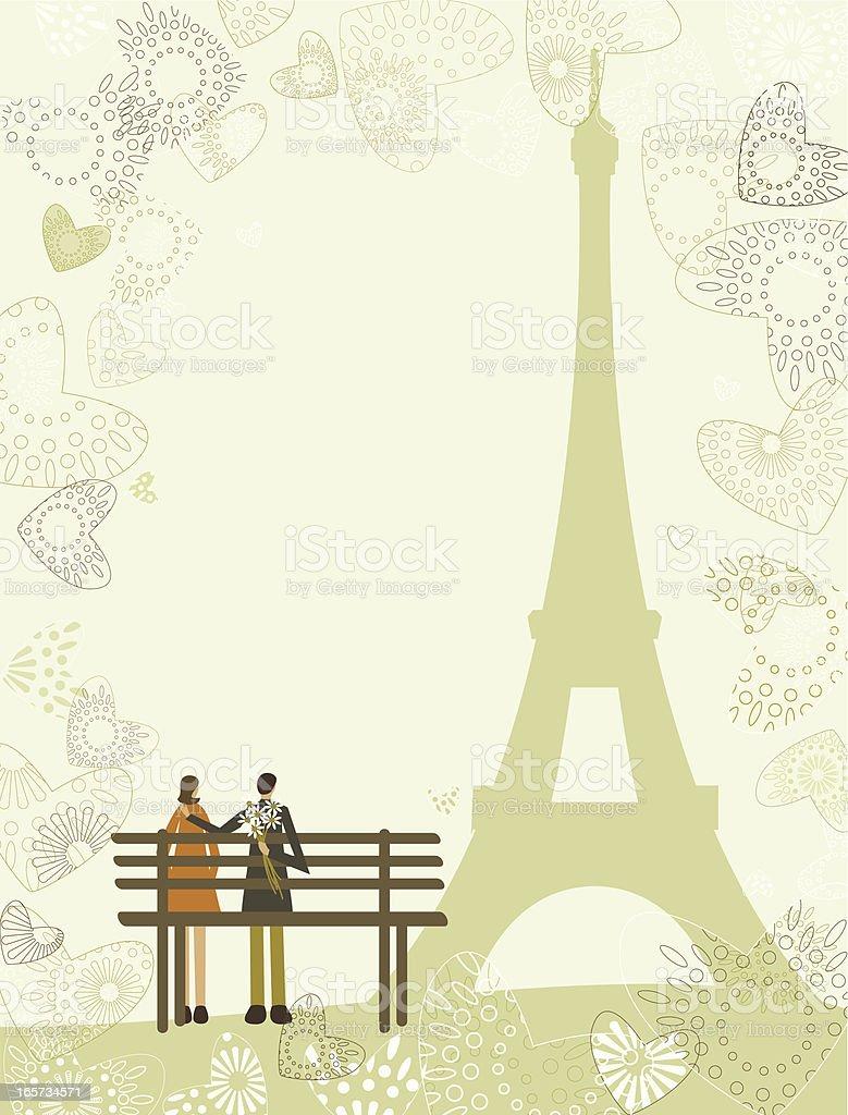Love in Paris royalty-free stock vector art