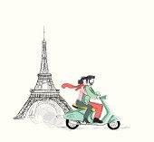 Love in Paris / vector illustration
