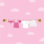 Couple underwear hanging and birds.  Please see some similar pictures in my lightboxs: