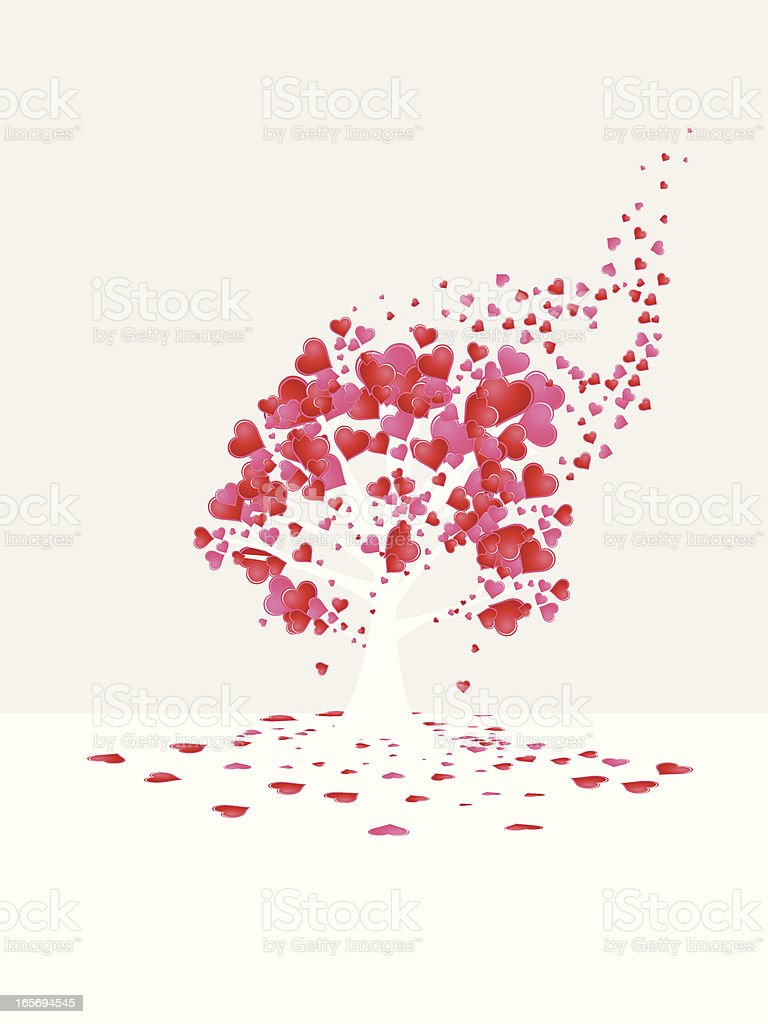 Love is All Around Tree royalty-free love is all around tree stock vector art & more images of anniversary card