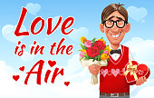 Love Is In The Air- Greeting Card