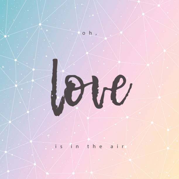 Bекторная иллюстрация Love is in the air greeting card vector