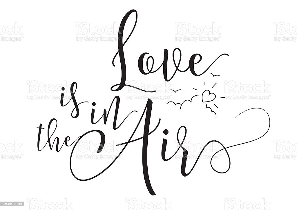 Download Love Is In The Air Inscription Greeting Card With ...