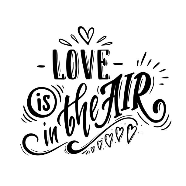 love is in the air vector art illustration