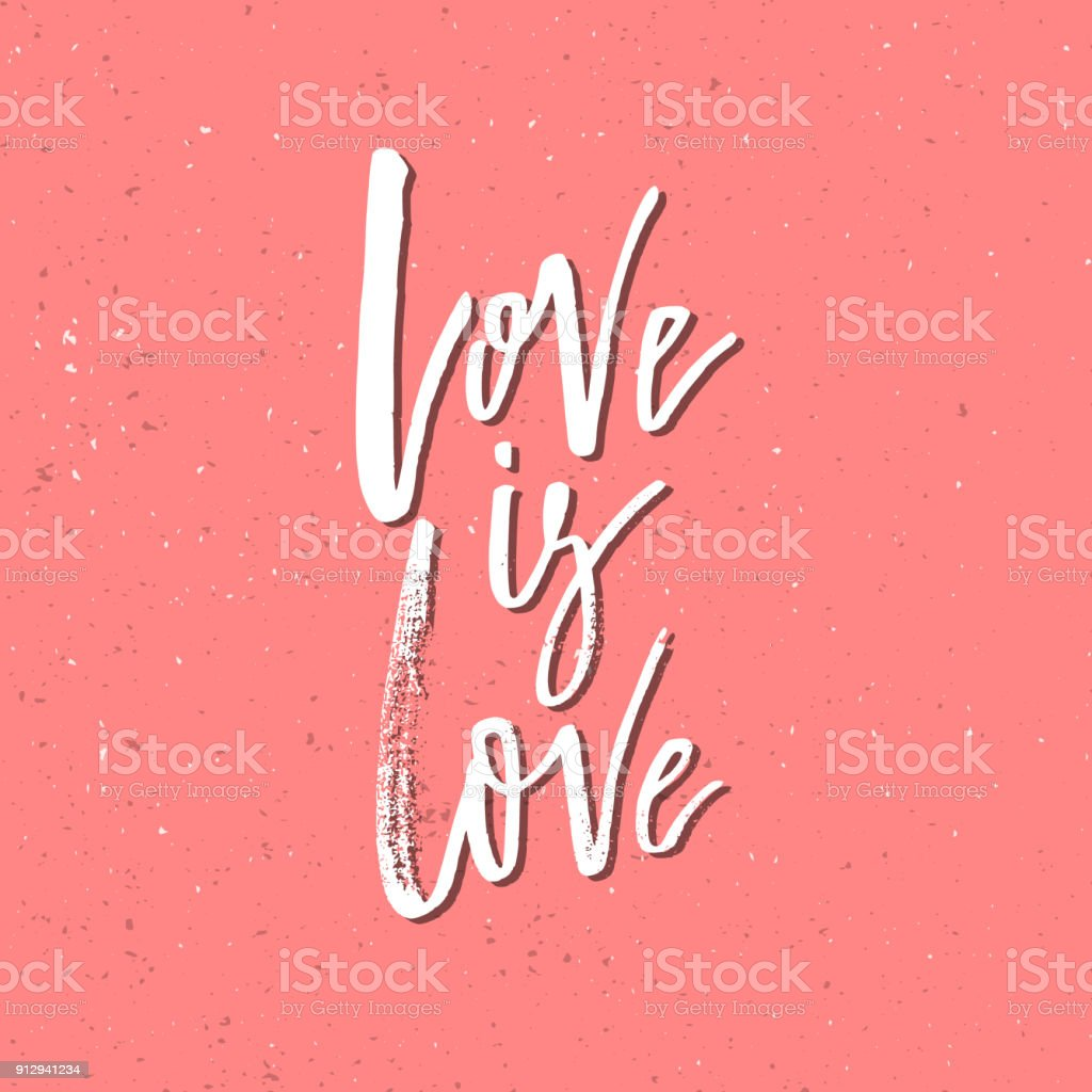Love Is Inspirational Valentines Day Romantic Handwritten Quote Good