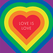 istock Love is love text, quote. LGBT rainbow texture. 1294608645