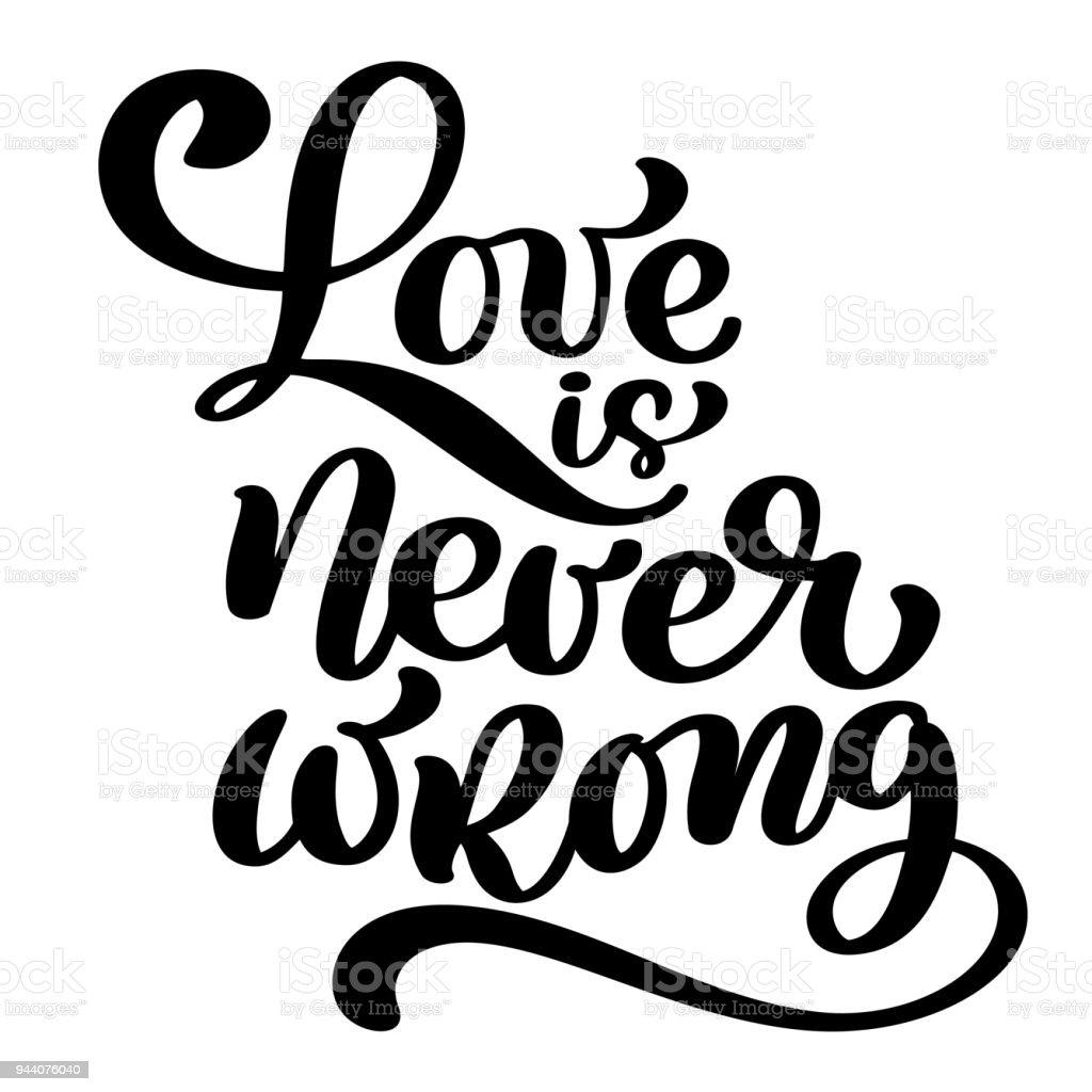 Vetores De O Amor Nunca é Errada Citação Motivacional E
