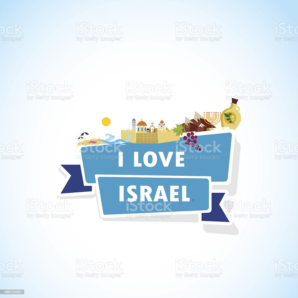 Love Israel vector art illustration