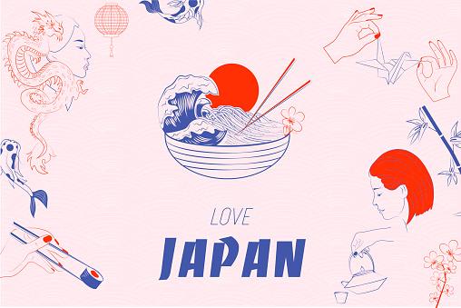 Love Japan illustration