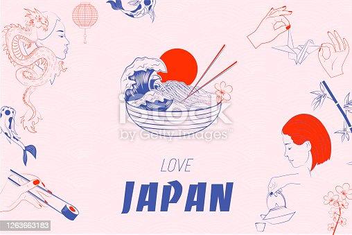 istock Love Japan illustration 1263663183