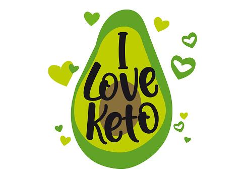 I love Keto vector logo