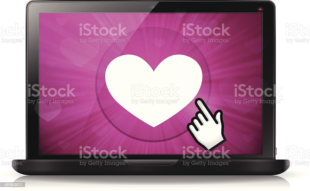 Love Laptop royalty-free stock vector art