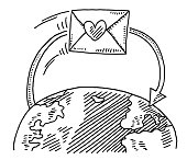 Love Letter Around The World Drawing