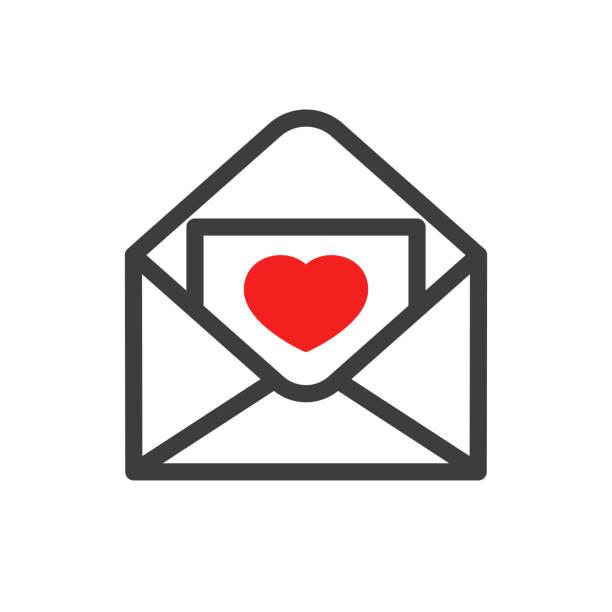 Love letter icon illustration isolated vector sign symbol vector art illustration