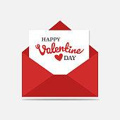 love letter, envelope, valentine, heart, illustrate