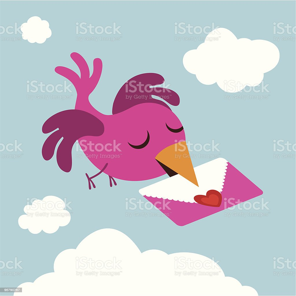 Love Letter vector art illustration