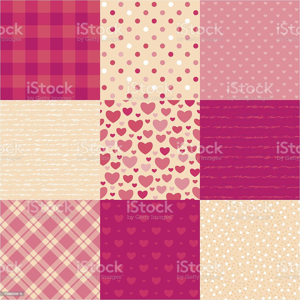 Love letters seamless pattern royalty-free stock vector art