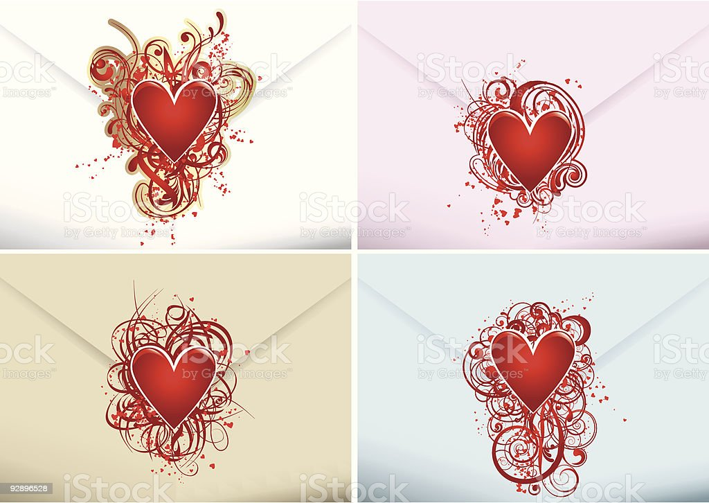 Love letters royalty-free stock vector art