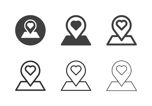 Love Location Icons - Multi Series