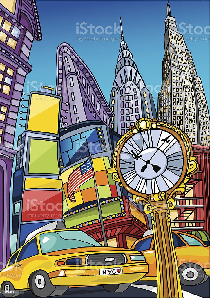 Love Manhattan vector art illustration