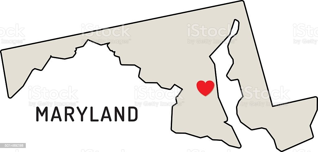 Love Maryland State Stock Vector Art & More Images of 2015 501489298 ...