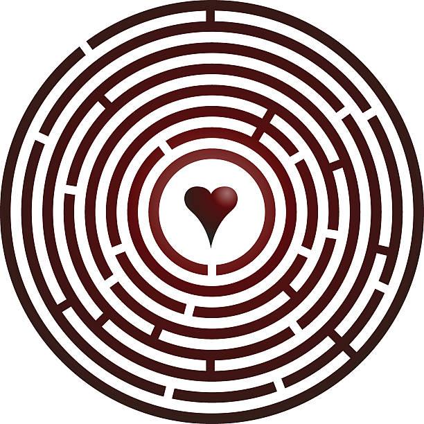 Miłość Maze ~ Wektor – artystyczna grafika wektorowa