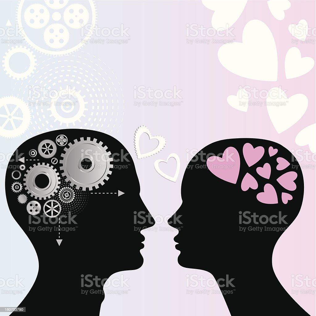 Love, mechanical royalty-free stock vector art