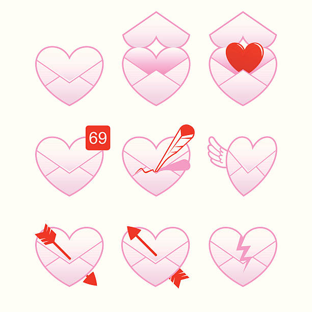 Love message vector art illustration