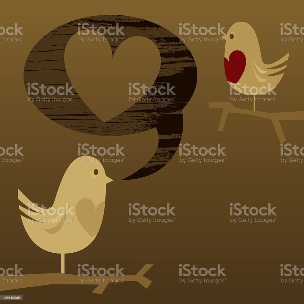Любовь сообщение - Векторная графика Без людей роялти-фри