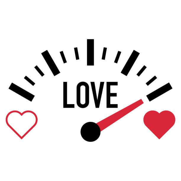 love meter gauge scale valentine day vector love meter gauge scale valentine day vector illustration car love stock illustrations