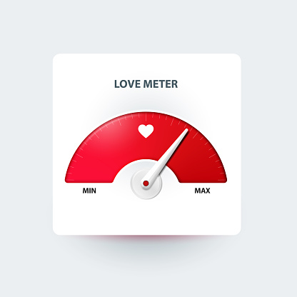 Love Meter Valentines Day Greeting Card Design Element Stock Illustration - Download Image Now