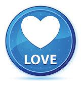 Love midnight blue prime round button