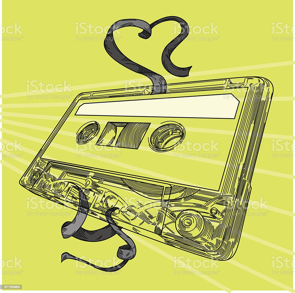 Love Mix Tape royalty-free stock vector art