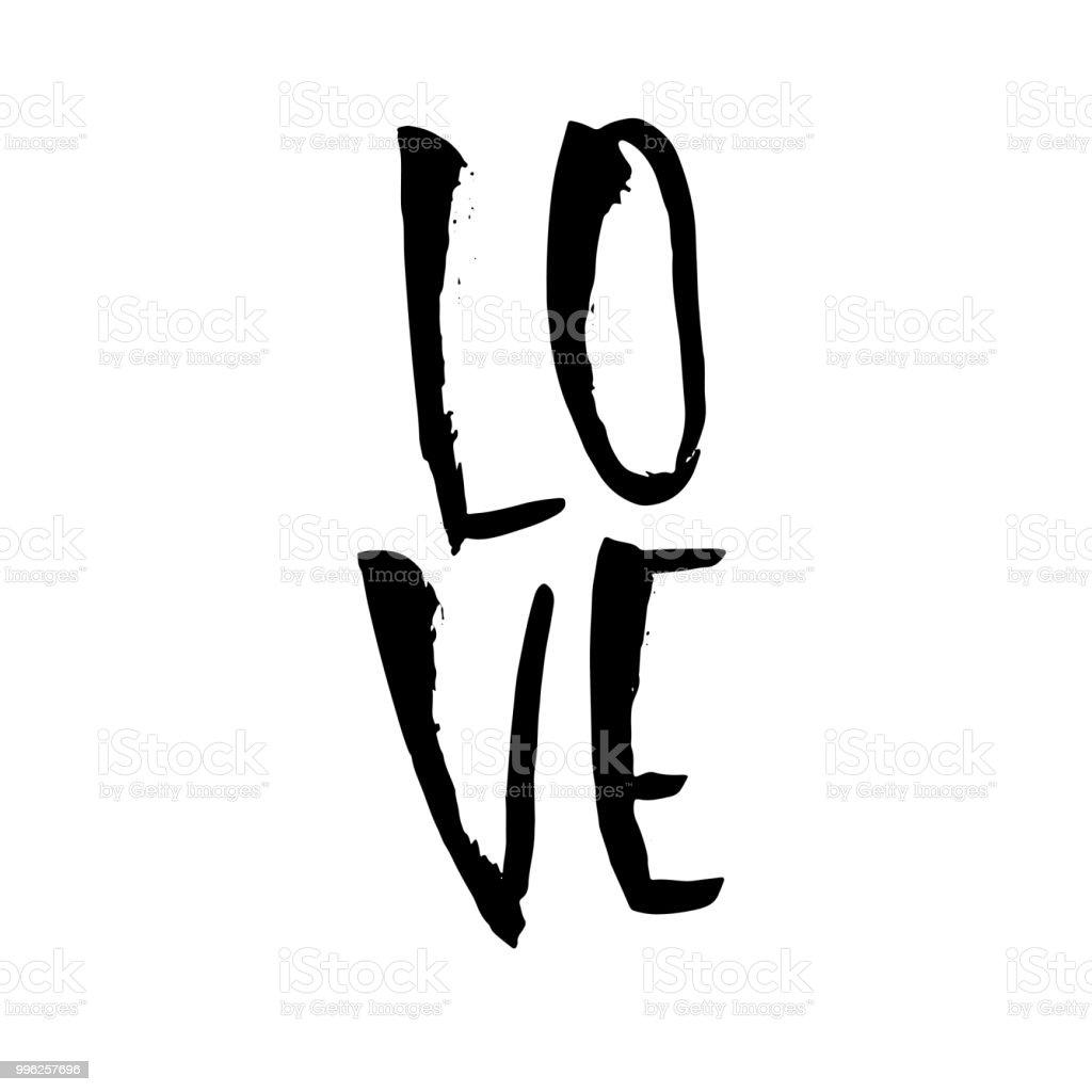 Ilustracion De Amor Caligrafia De Pincel Seco Moderno Frase Escrita