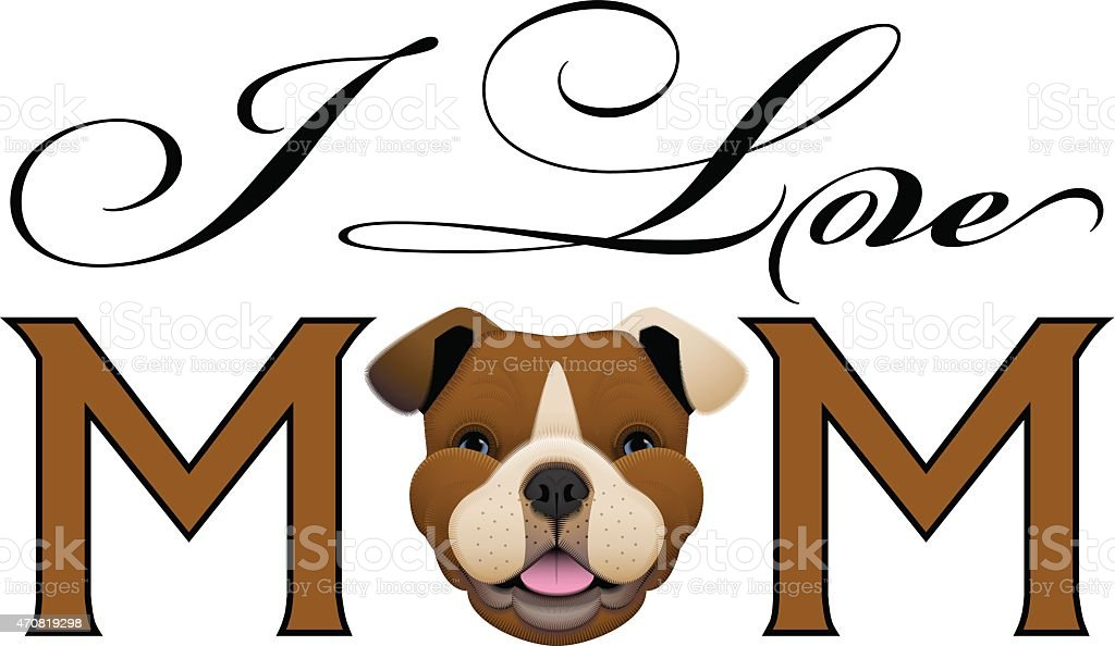 I love Mom! royalty-free i love mom stock illustration - download image now