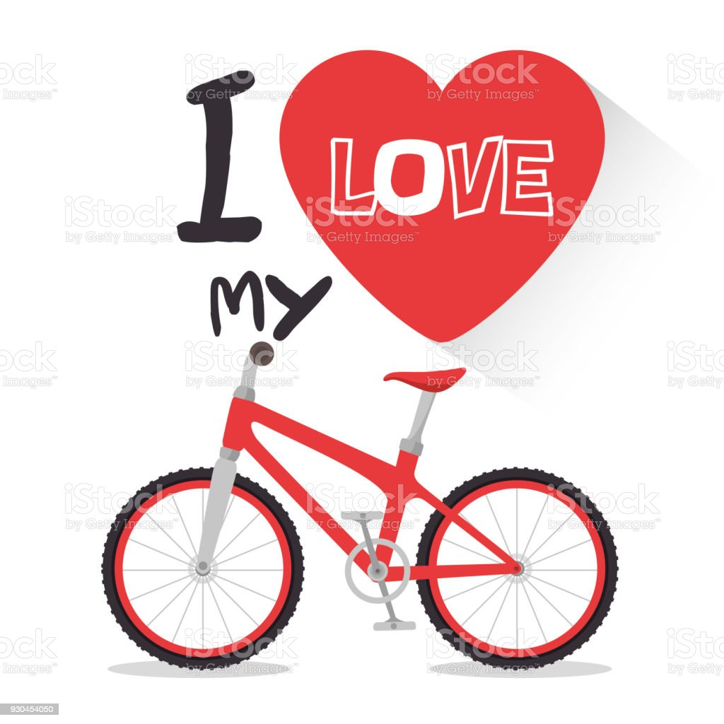 I Love My Bike Label Template Stock Vector Art & More Images of Art ...