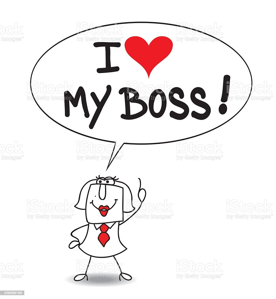 I Love My Boss Royalty Free Stock Vector Art Amp