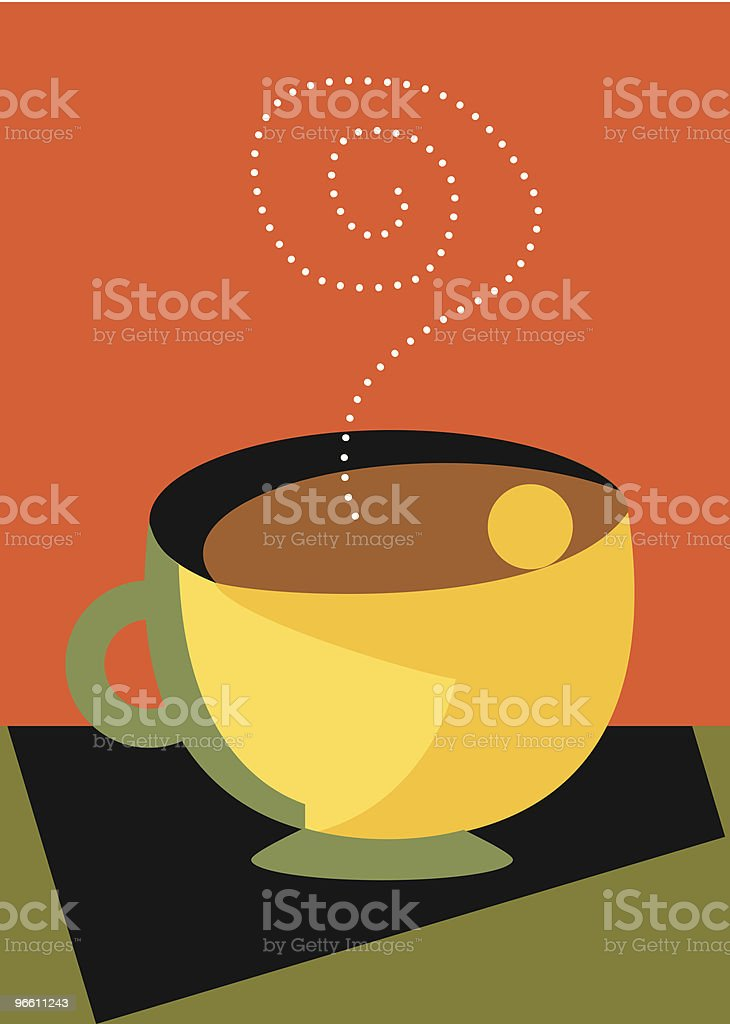 Love My Coffee with steam and a hug modern royalty-free love my coffee with steam and a hug modern stock vector art & more images of art and craft
