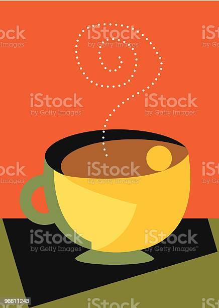Love My Coffee With Steam And A Hug Modern-vektorgrafik och fler bilder på Affisch